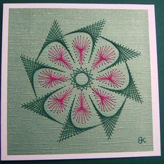 Grußkarte mit Blütenmotiv