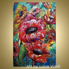 Original Modern Impressionist Painting Colorful by LUIZAVIZOLI
