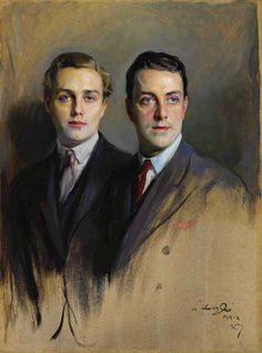 Philip Alexius de László (1869-1937), double portrait of Reginald Wright and John Brady Wright, his stepson, 1927