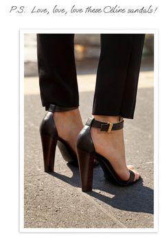 Celine ankle strap sandals!