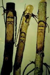 carved walking staff