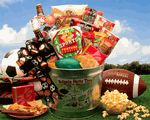Tailgate Party Football Themed Gift Basket