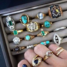 My love affair with antique jewelry began at a really young age when I'd habitually sift through and admire my mother's collection of gold and jade rings, necklaces and bangles, all of which had been passed down from several generations. Most pieces had a story - stories which I felt attached to