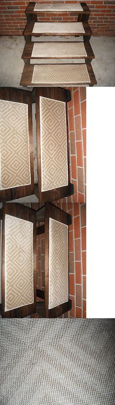 Stair Treads 175517: 13 Indoor Stair Treads 9X27 And 100% Woven Wool  U003e
