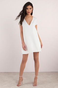 67ab93bc0515 Dazzle them in the chicest little white dress and forget the LBD this  season in crisp shift