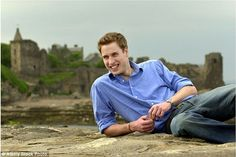 Prince William on the beach in St Andrews. The Prince read History of Art at the Scottish ...