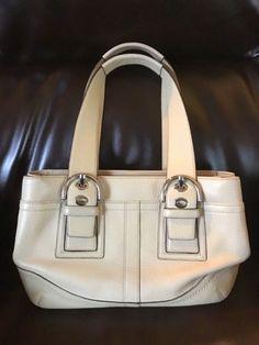 Coach Soho Purse Shoulder Bag Off White Ivory Sand Pebbled Leather Buckle  F10911  Coach   cb7c10107d7a5