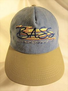 ef7751ba7b818 B.A.S.S. Bass Anglers Sportsman Society CAP Fishing Hat USA Made Embroidered   BASS  bassanglers