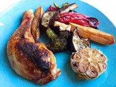 Marokkanisches Ofengemüse und Pouletschlegel  Freunde am Kochen
