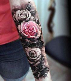 tatuaże kwiaty piękne róże