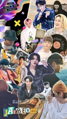 poster collage wallpaper You Make Me Crazy, Poster Collage, Jackson Wang, Got7, Overlays, Twitter Sign Up, Wallpapers, Shit Happens, Baseball Cards