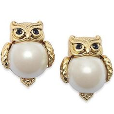 "Kate Spade Owl Earrings Whimsical and Fun , Kate Spade New York Owl Shaped stud earrings accented with imitation pearls . 12k gold plated earrings. From the Into the woods collection . Each earring measures approximately .5"" in size . No box or dust bag ! kate spade Jewelry Earrings"