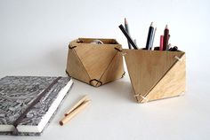 How To: Make a DIY Geometric Wooden Planter or Catch-all