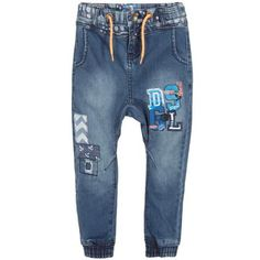 DESIGUAL Boys Blue Denim Jeans with Ankle Cuffs