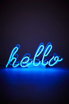 Neon Hello Light | Home & Gifts | Lighting | Novelty Lights | Urban Outfitters #UrbanOutfitters #UOEurope #UOonYou