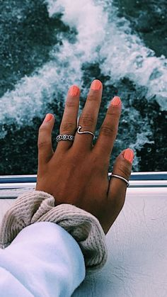 31 most eye catching different color coffin nails for prom and wedding 00017 Cute Nails, Pretty Nails, Coffin Nails, Acrylic Nails, Mickeal Kors, Hair And Nails, My Nails, Accesorios Casual, Cute Rings