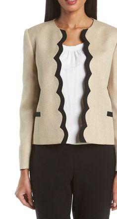 Loving the scallop detail on this Tahari blazer.