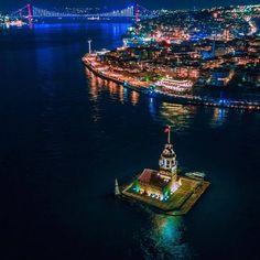 istanbul manzara resimleri gece kız kulesi Visit Istanbul, Istanbul City, Beautiful World, Beautiful Places, Visit Turkey, Turkey Photos, Turkey Travel, Dream City, Landscape Pictures