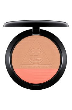 This blush duo by MAC and Ellie Goulding combines two shades for your cheeks and face. Pearly peach-pink complements a medium-toned warm bronze all in one gorgeous compact.