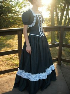 Stunning Denim Ballroom Gown- similar cut as what I'm envisioning for my western dress for a wedding this summer, except shorter and less formal! And in lighter cotton calico