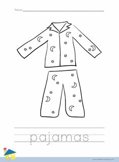 Put On Pjs Chore Chart Clipart Slumber Party Games