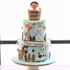Farm / barn birthday cake