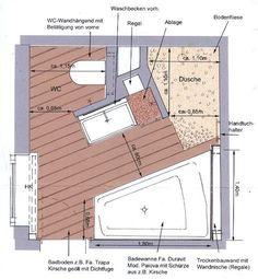 Mit kleinen Änderungen haben wir es in etwa so umgesetzt Bathroom Plans, Bathroom Spa, Bathroom Layout, Bathroom Interior Design, Plan Wc, Suites, Bath Design, Architecture Design, House Plans