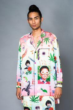 Sankuanz Printed Long Button-Down Shirt Dress - MEN - Sankuanz - OPENING CEREMONY