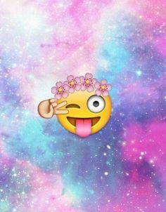 Emoji background on We Heart It