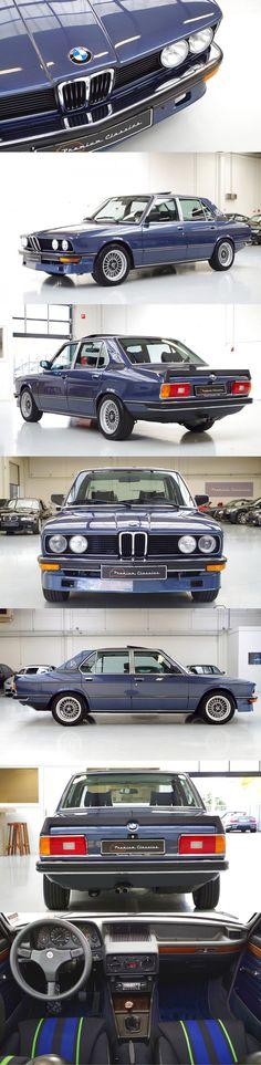 1980 BMW 528i / E12 / blue / Germany / premiumclassics.nl / 17-413