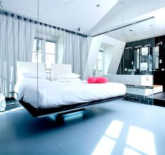 floating bed! kube hotel @paris