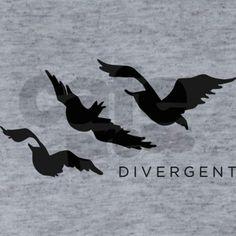 Divergent Tris Birds Tattoo T-Shirt on CafePress.com