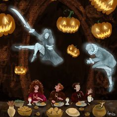 Hey guys! Hope you're enjoying your Halloween if you celebrate it! . . Here's a peek at a piece I did for Biblioflames' October book box. Halloween at Hogwarts! This was hard for me to do and took a lot of time. It didn't turn out how I imagined but I'm still pleased with it. Practice makes perfect, right? . . And I'm sorry I didn't do all my Inktober prompts. I guess I got a bit carried away by doing prompts for every day. This artwork was actually the last prompt I had ...