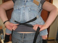 Pattern - Baby or Toddler Carrier pattern for free, made from denim blue jeans. Easy to do, no sewing machine required.