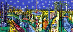 Rafi Peretz - Tel Aviv's Starry Night