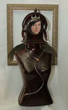 The Archangel, found object assemblage torso.  Assemblages by Roberta Karstetter