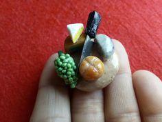 Comida miniatura en porcelana fria. Food miniature ploymer clay Dollhouse