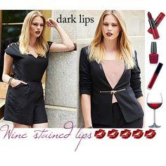 """""""Beauty Trend: Wine Stained Lips"""" by simplybe on Polyvore"""