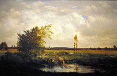 Charles Francois Daubigny - Landscape Painting at Corcoran Art Gallery Washington DC