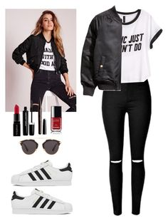 """Get the look"" by danny-rv ❤ liked on Polyvore featuring beauty, Missguided, H&M, Christian Dior, adidas, Marc Jacobs, Smashbox and Chanel"