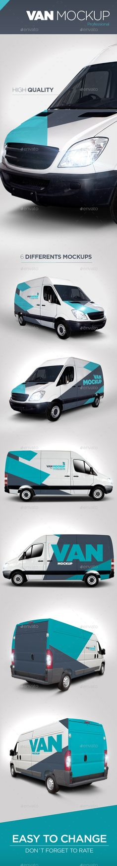 Van Mock Up - Product Mock-Ups Graphics