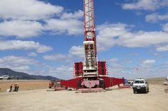Mammoet erected 75 turbines for Ararat wind farm, VC, Australia  #cranepedia #mammoet #windfarm