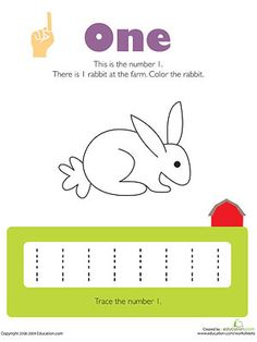 Fun activity sheets that are also coloring pages will help kids practice learning numbers.
