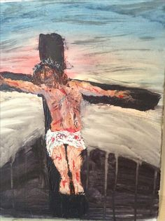 Crucifiction/ knife painting