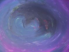 """"""" Vortex """" by Iris Einfeldt   http://www.isisicefieldgallery.com/2013/06/vortex-by-iris-einfeldt.html   #oil #Oiloncanvas #painting #black #purple #blue #white #art #kunst #vortex #canvas"""