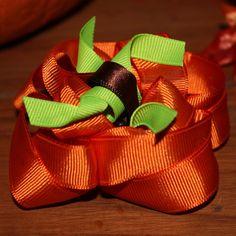 Pumpkin Hair Bow by MegansHairCandy on Etsy, $7.50