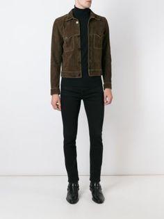 Saint Laurent contrast trim jacket