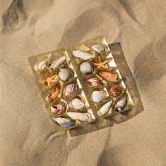 Willem de Haan vond op het strand een chocoladebruin gekleurde schelp. Toen het hem later niet lukte om deze schaal in de beroemde Belgische chocoladeverpakking te passen, was het spel begonnen. Op verschil-lende locaties verzamelde De Haan zeefruit en schelpen die perfect pasten in de bekende verpakking. 'Seafruit' Was, Contemporary Artists, Cuff Bracelets, Jewelry, Jewlery, Jewerly, Schmuck, Jewels, Jewelery