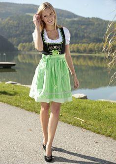 Grünes Dirndl #Wiesn #Oktoberfest #Trachtenmode | HeidisTrachten.de
