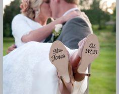 Décalque de chaussure de mariage